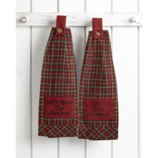 Tartan Holiday 2 Piece Button Loop Kitchen Towel Set