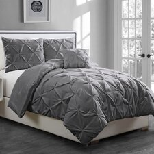 Anabelle Pinch Pleat 3 Piece Twin Coverlet Set