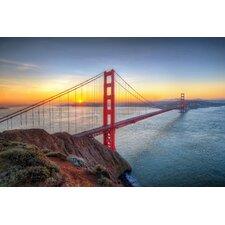 """Golden Gate Bridge"" Photographic Print Plaque"