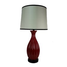 """Ceramic Ribbed 30"""" H Table Lamp with Empire Shade (Set of 2)"""