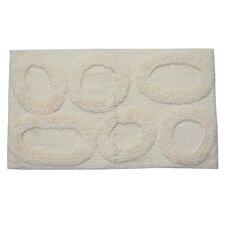 Castle 100% Cotton Pebble Spray Latex Back Bath Rug