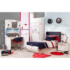 First Class Airplane Upholstered Customizable Bedroom Set