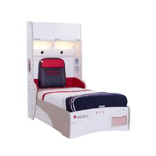 First Class Airplane Twin Storage Bed with Headboard Storage