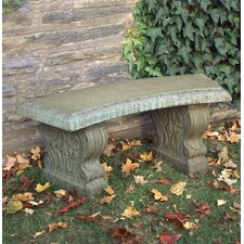 Curved Traditional Cast Stone Garden Bench