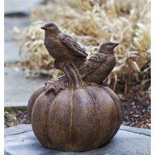 Birds on Pumpkin Statue
