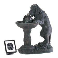 Resin Thirsty Dog Solar Fountain