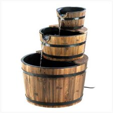 Wooden Tiered Barrel Fountain