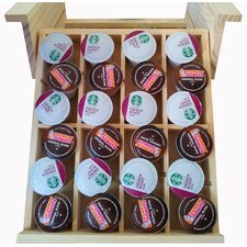 Natural Wood Under the Cabinet Spice Organizer