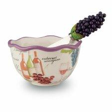 2 Piece Wine Serving Bowl and Spreader Set