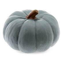 Resin Pumpkin Sculpture in Teal