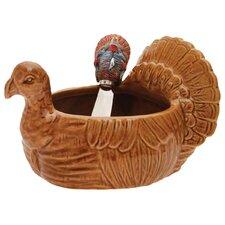 Turkey Serving Bowl and Spreader Set