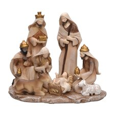 "9"" Nativity Manger Figurine"
