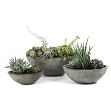 Yano 3 Piece Round Pot Planter Set
