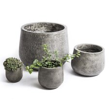 Samai 4 Piece Round Pot Planter Set