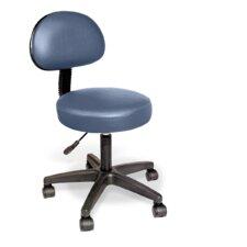 Rolling Stool with Removable Backrest