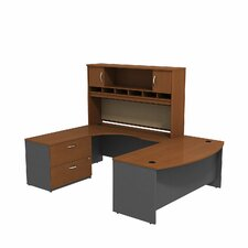 Series C Bow Front Desk Office Suite