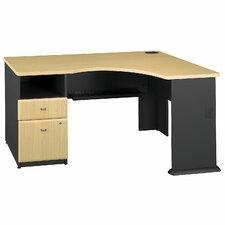 Series A Expandable Single Pedestal Corner Desk