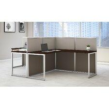 Easy Office 2 Piece L-Shape Desk Office Suite