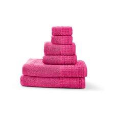 100% Egyptian Cotton Jacquard 6 Piece Towel Set