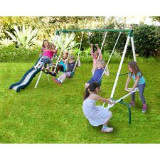 Live Oak Metal Slide and Swing Set