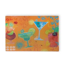 Fruit Cocktail Tempered Glass Cutting Board