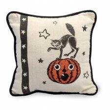 Cat Halloween Throw Pillow