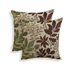 Bristol Chenille Jacquard Leaf Throw Pillow (Set of 2)