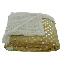 Noble House Dot Sherpa Throw Blanket