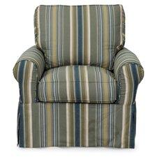 Horizon Slipcovered Swivel Chair