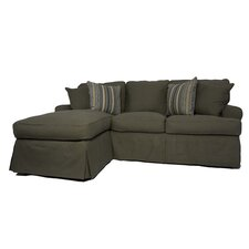 Horizon Slipcovered Sleeper Sofa and Chaise