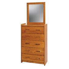 Rustic Youth 5 Drawer Chest with Mirror