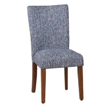 Upholstered Parsons Chair in Blue (Set of 2)