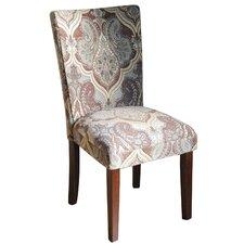 Kinfine Upholstered Damask Parsons Chair (Set of 2)