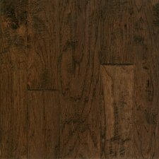 Artesian Random Width Engineered Hickory Hardwood Flooring in Barrel Brown