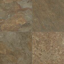 """Alterna Reserve Moselle Valley 16"""" x 16"""" x 4.06mm Luxury Vinyl Tile in Forest Green/Copper"""