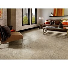 "Alterna La Plata 16"" x 16"" Luxury Vinyl Tile in Taupe/Gray"
