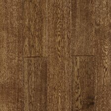 Gatsby Random Width Solid White Oak Hardwood Flooring in Antique Brown