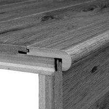 """0.31"""" x 2.75"""" x 78"""" White Oak Stair Nose in Spice"""
