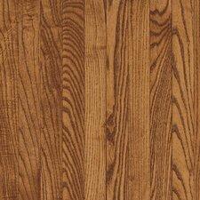"""Bristol 2-1/4"""" Solid Red / White Oak Hardwood Flooring in Gunstock"""