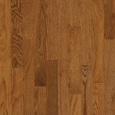 "Waltham Strip 2-1/4"" Solid Oak Hardwood Flooring in Gunstock"