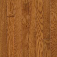 "Waltham Strip 2-1/4"" Solid Oak Hardwood Flooring in Brass"