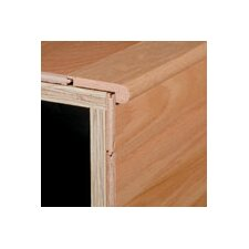 """0.81"""" x 2.88"""" x 78"""" Red Oak Stair Nose in Smoked Chestnut"""