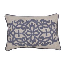 Inspired Floral Linen Throw Pillow
