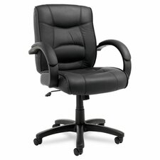 Strada Series Mid-Back Leather Office Chair