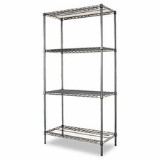"Industrial Wire 72"" H 4 Shelf Shelving Unit Starter"