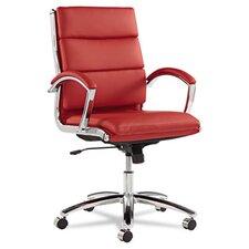 Neratoli Series Mid-Back Leather Swivel/Tilt Chair