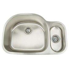 """Premium Series 31.5"""" x 21.75"""" Double Bowl Undermount Kitchen Sink"""