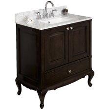 "32"" Single Traditional Birchwood-Veneer Bathroom Vanity Set"