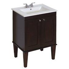 """32"""" Single Transitional Birchwood-Veneer Bathroom Vanity Set"""