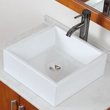Above Counter Square Vessel Bathroom Sink